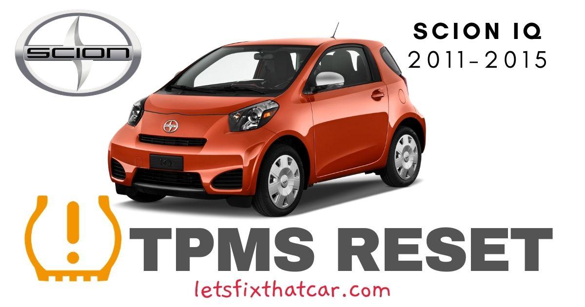 TPMS Reset-Scion iQ 2011-2015 Tire Pressure Sensor