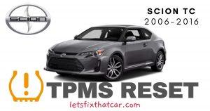 TPMS Reset-Scion tC 2006-2016 Tire Pressure Sensor