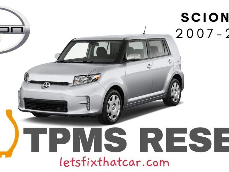 TPMS Reset-Scion xB 2007-2015 Tire Pressure Sensor