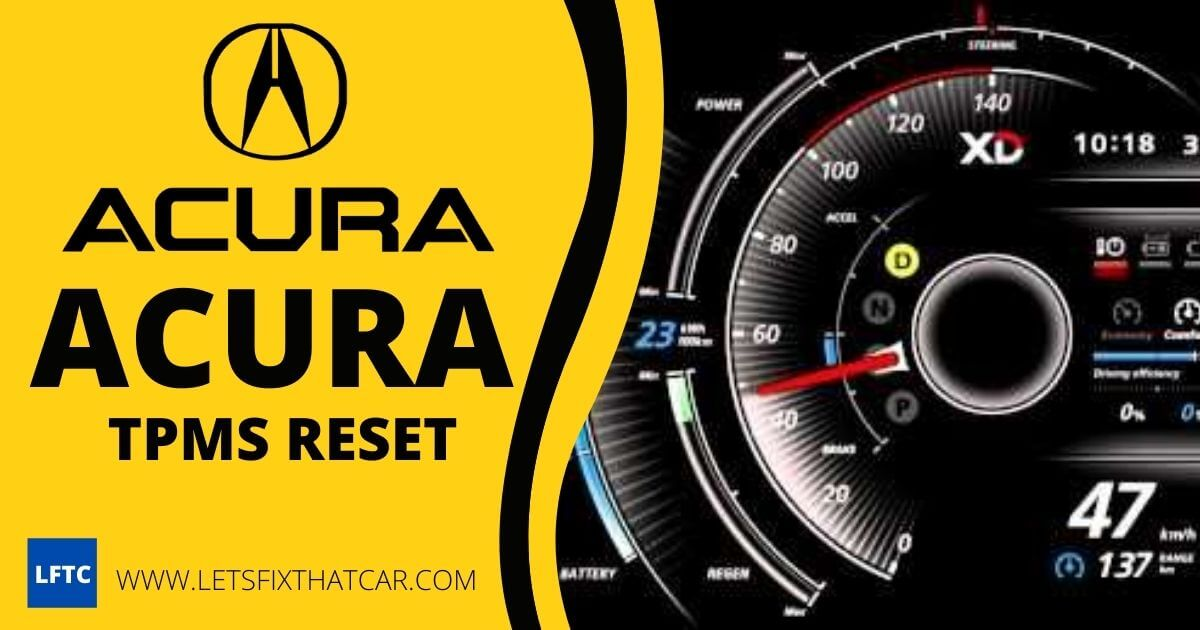 ACURA TPMS Reset