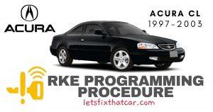 KeyFob RKE Programming Procedure: Acura CL 1997-2003