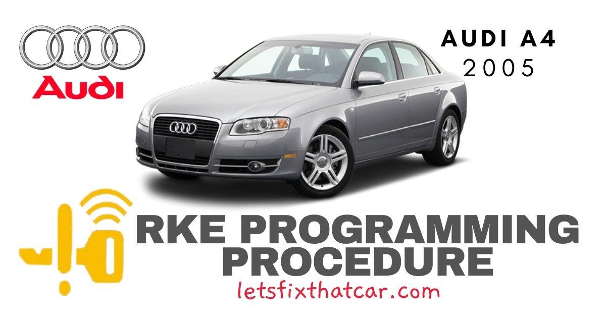 KeyFob RKE Programming Procedure-Audi A4 2005