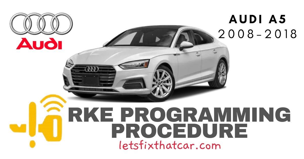 KeyFob RKE Programming Procedure-Audi A5 2008-2018