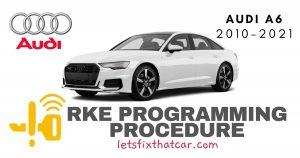 KeyFob RKE Programming Procedure-Audi A6 2010-2021