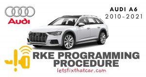 KeyFob RKE Programming Procedure-Audi A6 2018-2020
