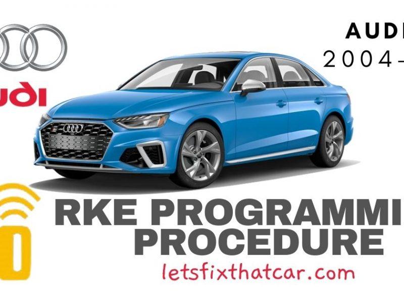 KeyFob RKE Programming Procedure-Audi S4 2004-2021