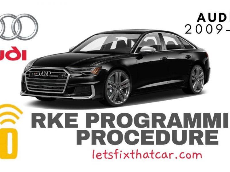 KeyFob RKE Programming Procedure-Audi S6 2009-2021