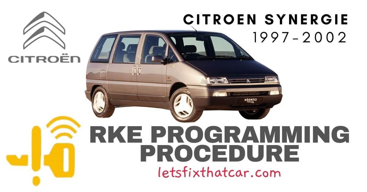 KeyFob RKE Programming Procedure- Citroen Synergie 1997-2002
