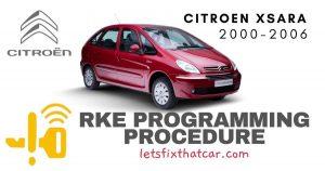 KeyFob RKE Programming Procedure-Citroen Xsara 2000-2006