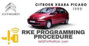 KeyFob RKE Programming Procedure-Citroen Xsara Picaso 1999