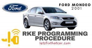 KeyFob RKE Programming Procedure-Ford Mondeo 2001