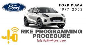 KeyFob RKE Programming Procedure-Ford Puma 1997-2002