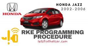 KeyFob RKE Programming Procedure-Honda Jazz 2002-2006