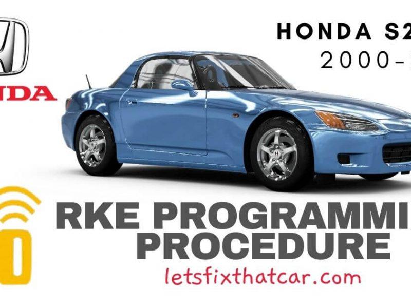 KeyFob RKE Programming Procedure-Honda S2000 2000-2003