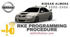 KeyFob RKE Programming Procedure-Nissan Almera 2000-2006
