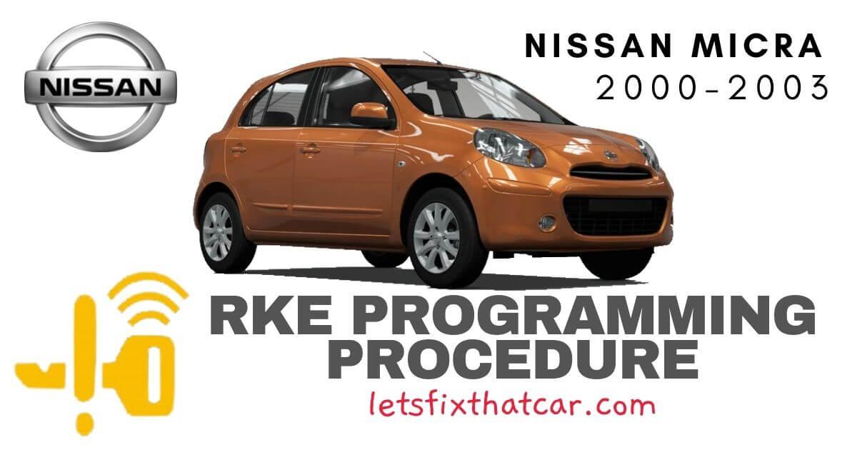 KeyFob RKE Programming Procedure-Nissan Micra 2000-2003