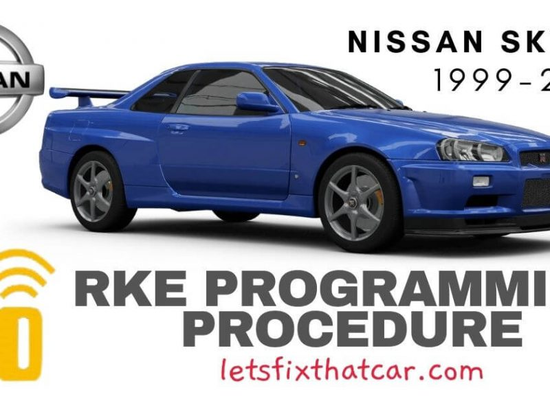 KeyFob RKE Programming Procedure-Nissan Skyline 1999-2002
