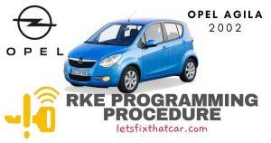KeyFob RKE Programming Procedure-Opel Agila 2002