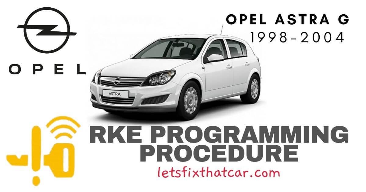 KeyFob RKE Programming Procedure-Opel Astra G 1998-2004