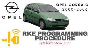KeyFob RKE Programming Procedure-Opel Corsa C 2000-2006
