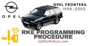 KeyFob RKE Programming Procedure-Opel Frontera 1998-2003