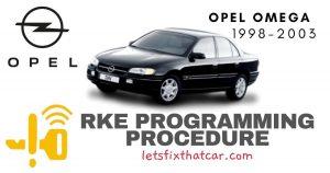 KeyFob RKE Programming Procedure-Opel Omega 1998-2003