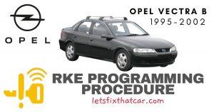 KeyFob RKE Programming Procedure-Opel Vectra B 1995-2002