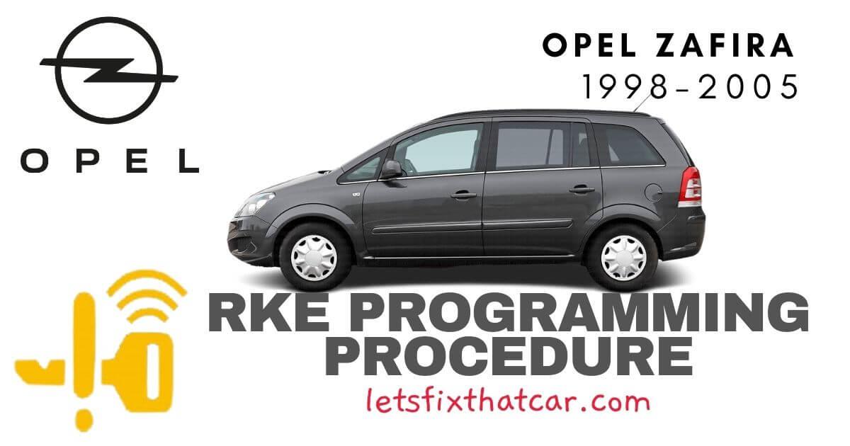 KeyFob RKE Programming Procedure-Opel Zafira 1998-2005
