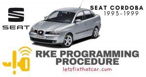 KeyFob RKE Programming Procedure-Seat Cordoba 1993-1999