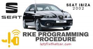 KeyFob RKE Programming Procedure-Seat Ibiza 2002