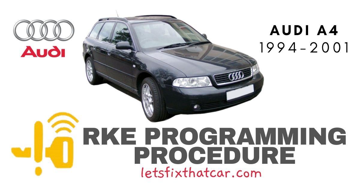 RKE Programming Procedure-Audi A4 1994-2001