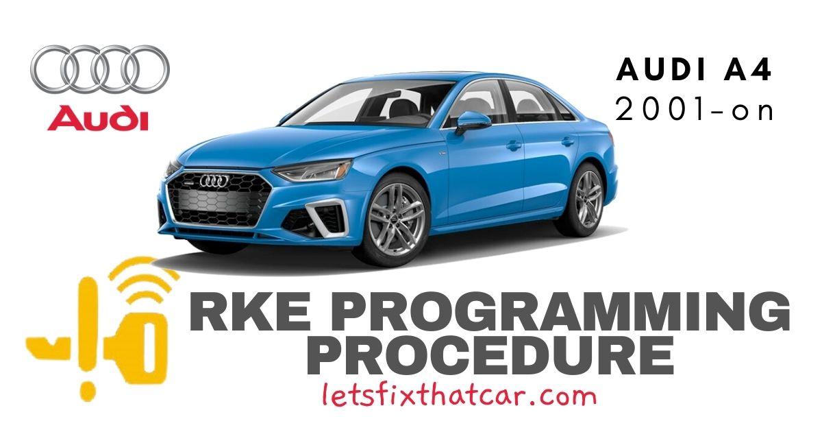 RKE Programming Procedure-Audi A4 2001 on