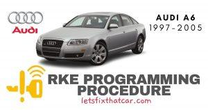 RKE Programming Procedure-Audi A6 1997-2005