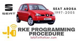 RKE Programming Procedure-Seat Arosa 1997-2005
