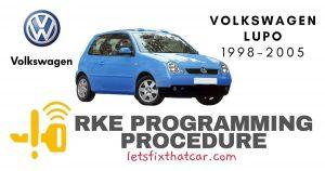 RKE Programming Procedure-Volkswagen Lupo 1998-2005