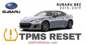 TPMS Reset-Subaru BRZ 2013-2019 Tire Pressure Sensor