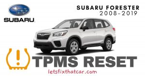 TPMS Reset-Subaru Forester 2008-2019 Tire Pressure Sensor