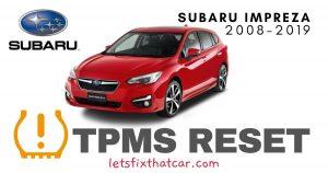 TPMS Reset-Subaru Impreza 2008-2019 Tire Pressure Sensor