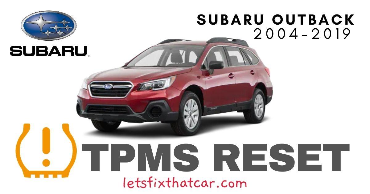 TPMS Reset-Subaru Outback 2004-2019 Tire Pressure Sensor
