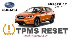 TPMS Reset-Subaru XV 2014 Tire Pressure Sensor