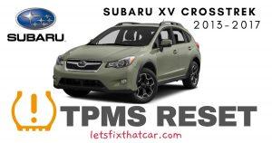 TPMS Reset- Subaru XV Crosstrek 2013-2017 Tire Pressure Sensor
