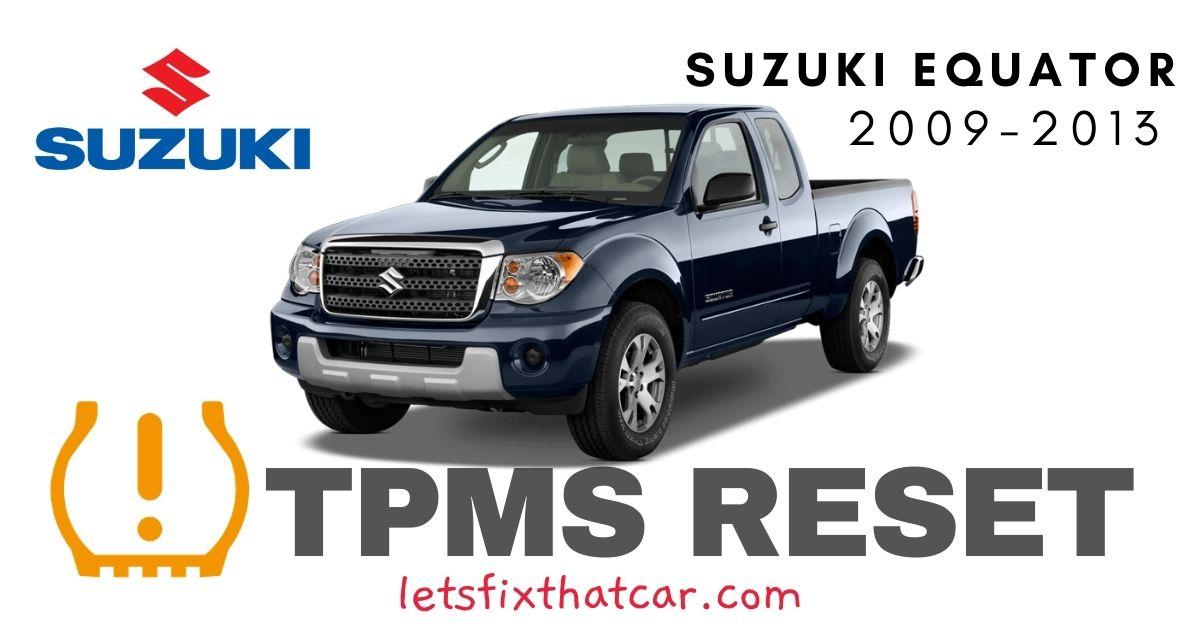 TPMS Reset-Suzuki Equator 2009-2013 Tire Pressure Sensor