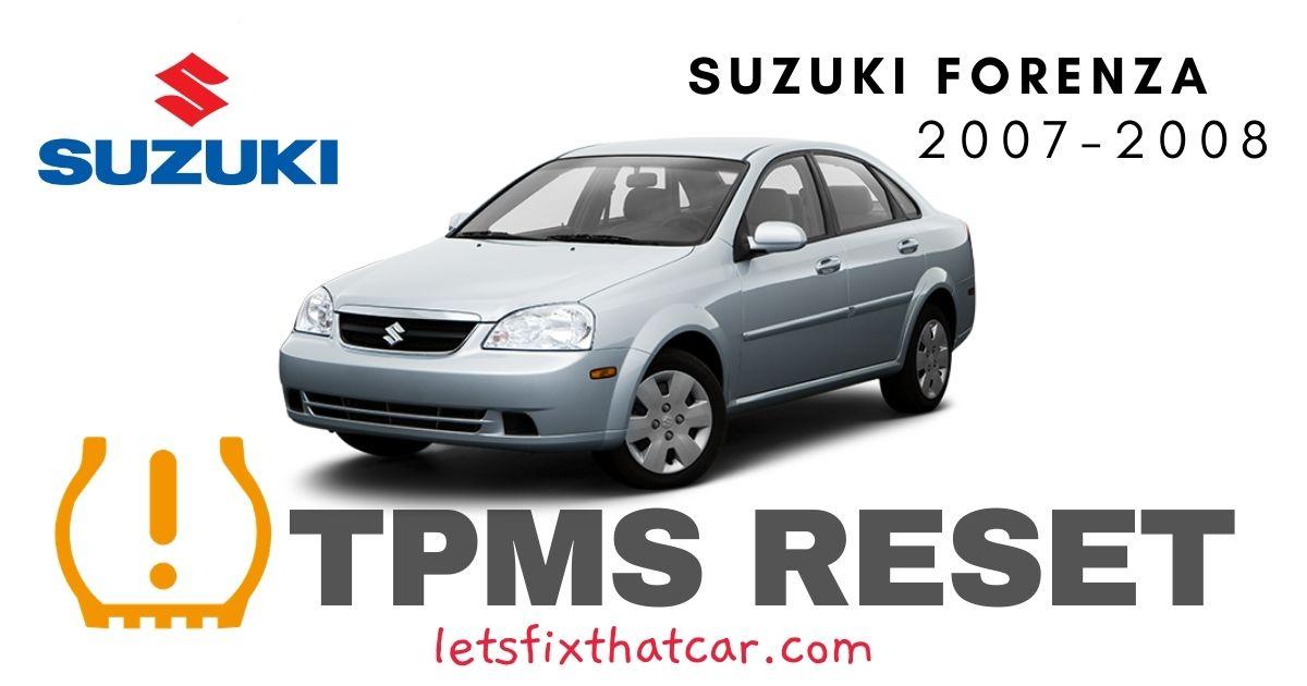 TPMS Reset-Suzuki Forenza 2007-2008 Tire Pressure Sensor