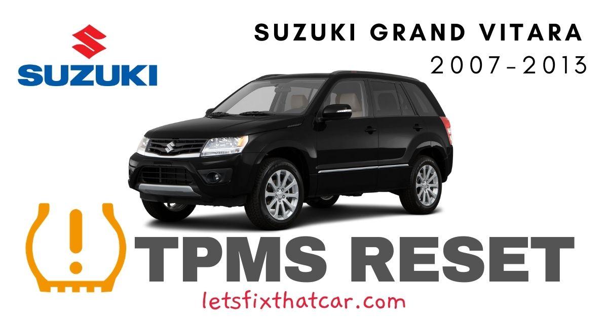 TPMS Reset-Suzuki Grand Vitara 2007-2013 Tire Pressure Sensor