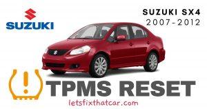 TPMS Reset-Suzuki SX4 2007-2012 Tire Pressure Sensor