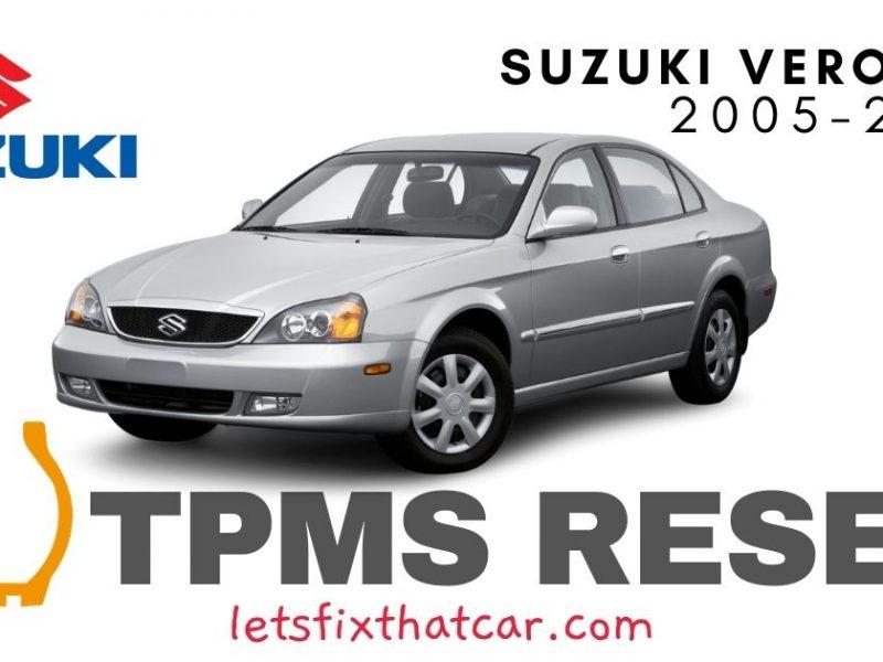 TPMS Reset-Suzuki Verona 2005-2006 Tire Pressure Sensor