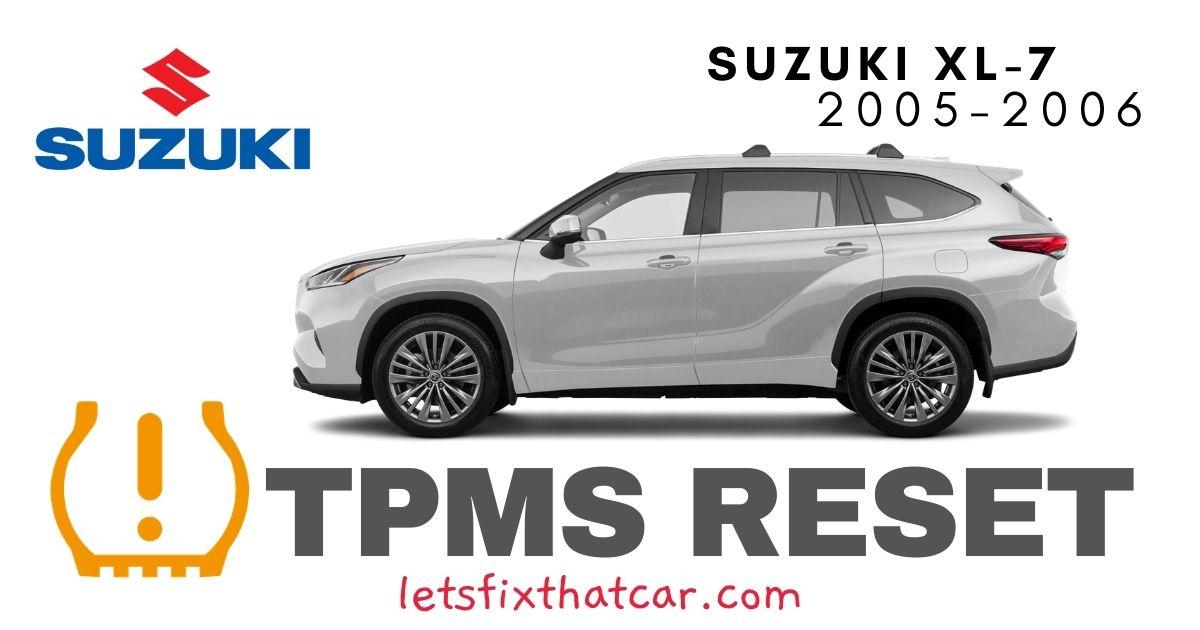 TPMS Reset-Suzuki XL-7 2005-2006 Tire Pressure Sensor