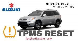 TPMS Reset-Suzuki XL-7 2007-2009 Tire Pressure Sensor