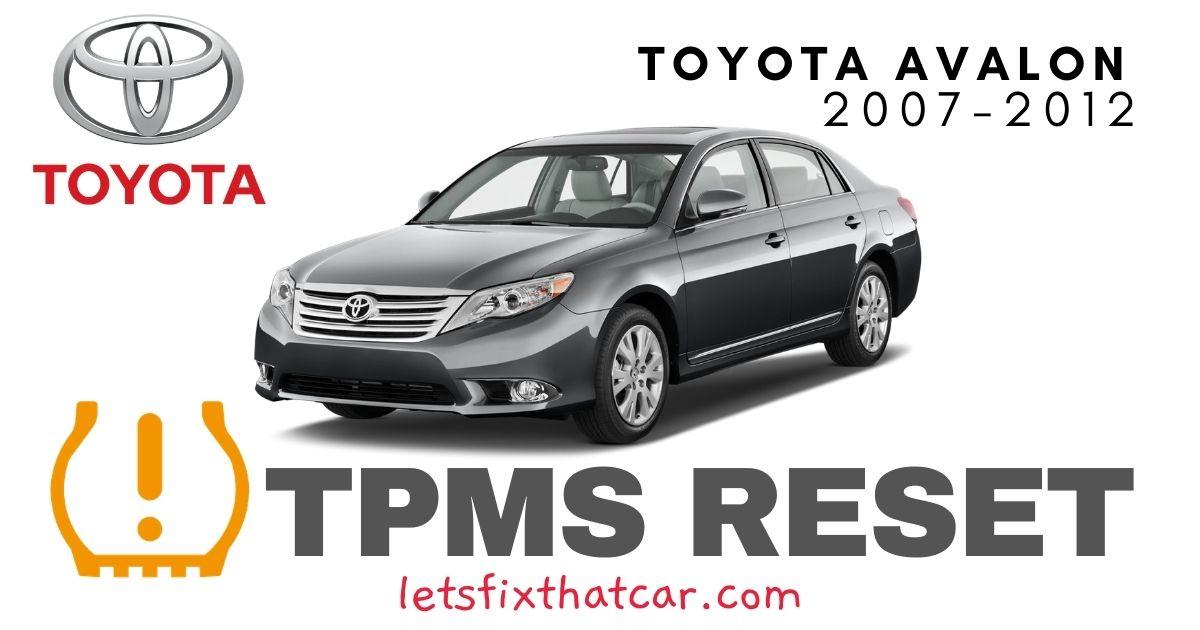 TPMS Reset-Toyota Avalon 2007-2012 Tire Pressure Sensor