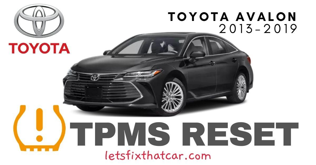 TPMS Reset-Toyota Avalon 2013-2019 Tire Pressure Sensor